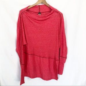 We The Free red ribbed tunic top shirt sz